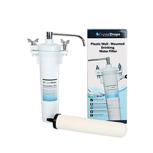 Crystal Drops Plastic Water Filter with Ceramic Cartridge WF-09