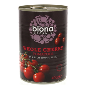 Biona Organic Whole Cherry Tomatoes 400g