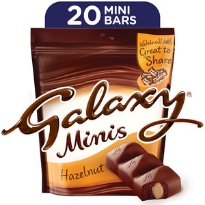Galaxy Minis Hazelnut Chocolate Mini Bars 250g 20pcs