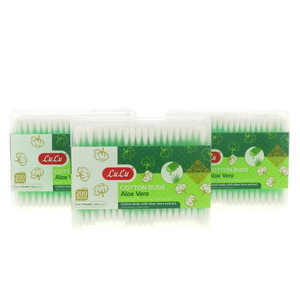 Lulu Cotton Buds With Aloe Vera Extract 3 x 200's