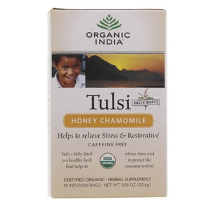 Organic India Tulsi Honey Chamomile Tea  18 Infusion Bags