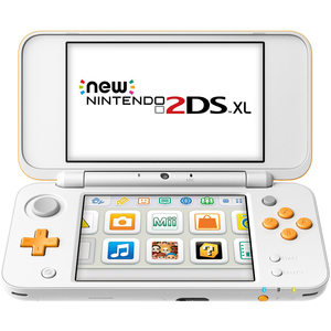 Nintendo 2DSXL Console Orange and  White + 2 Games
