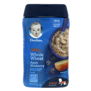 Gerber Lil Bits Whole Wheat Apple & Blueberry Cereal 227g