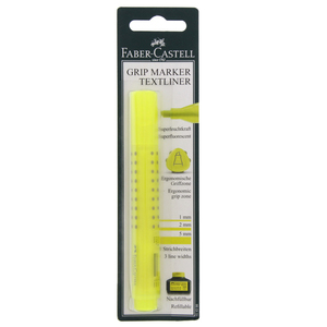 Faber-Castell Refillable Grip Marker Textliner Yellow