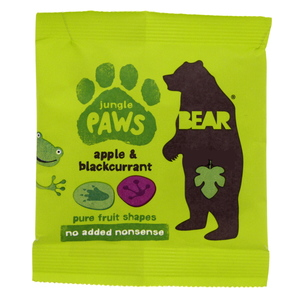 Bear Jungle Paws Pure Fruit Shapes Apple & Blackcurrant 20g