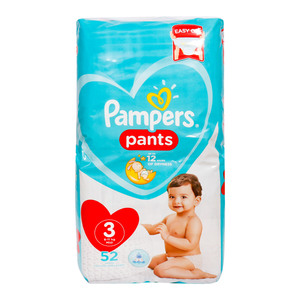 Pampers Diaper Pants Value Pack Size 3 6-11kg 52 Count