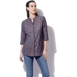 Eten Women's Printed Denim Top 2590