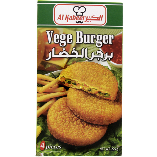 Al Kabeer Vege Burger 4 Pieces 227g