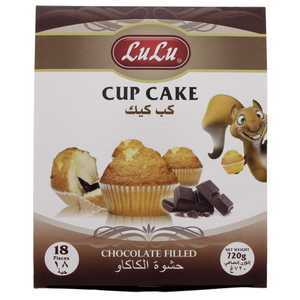 Lulu Cup Cake Chocolate Filled 720g
