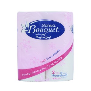 Sanita Bouquet Household towels 2 rolls