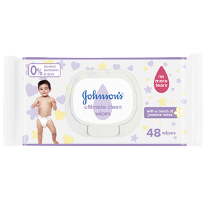 Johnson's Ultimate Clean Baby Wipes 48Pcs