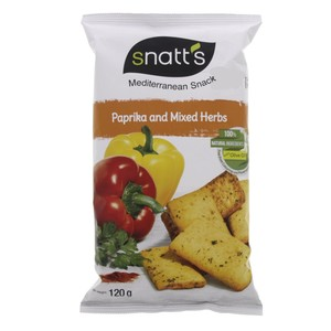 Snatt's Mediterranean Snack Paprika and Mixed Herbs 120g