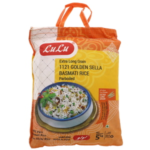 Lulu 1121 Golden Sella Basmati Rice Extra Long Grain 5kg