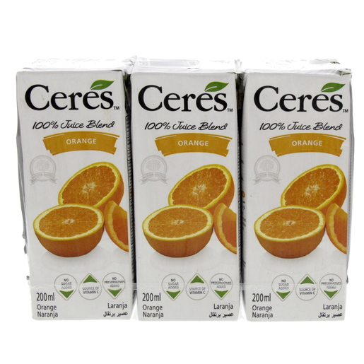 Buy Ceres Orange Juice 200ml - Fruit Juice Tetra - Lulu Webstore QATAR