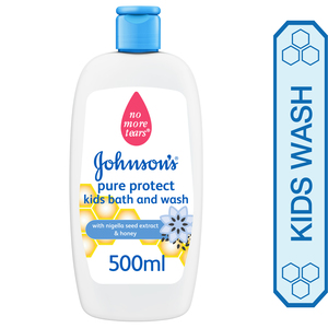 Johnson's Pure Protect Kids Bath And Wash 500ml