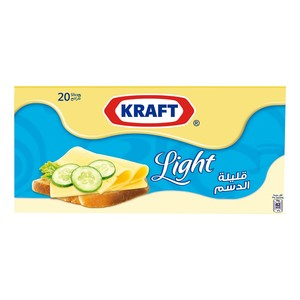 Kraft Cheese Slices Light 400g