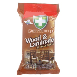 Green Shield Wood And Laminate Surface Wipes 70Pcs
