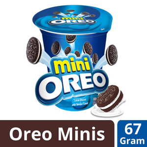 Nabisco Mini Oreo Cocoa Biscuit with Vanilla Flavor 67g