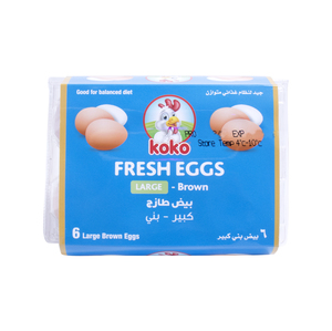 Koko Brown Eggs Large 6pcs