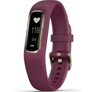 Garmin vivosmart 4 Activity and Fitness Tracker Band  Merlotrose Gold