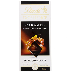 Lindt Excellence Caramel With A Touch Of Sea Salt Dark Chocolate 100g