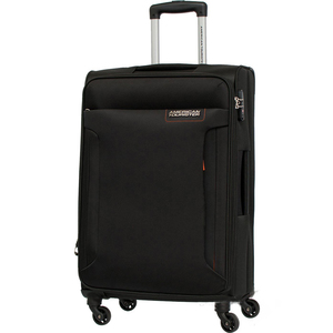 American Tourister Troy 4 Wheel Soft Trolley 55cm Black