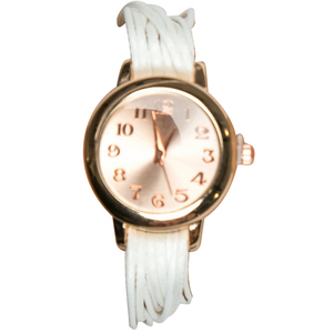 Women's Fashion Multilayer Weave Band Wrist Watch White