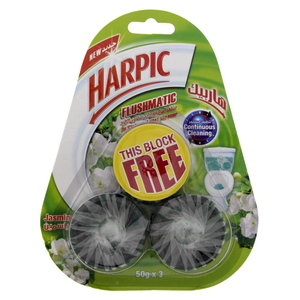 Harpic Toilet Blocks Jasmine 50g X 3pcs