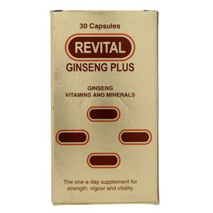 Revital Ginseng Plus Vitamin And Minerals Capsules 30pcs