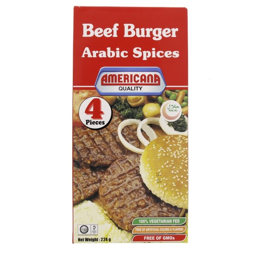 Americana Beef Burger Arabic Spices 4s 224g