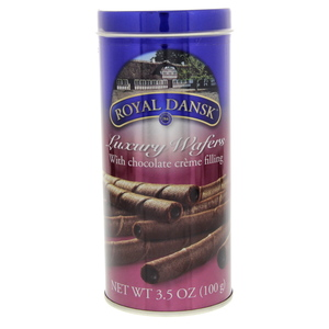 Royal Dansk Luxury Wafers With Chocolate Cream Filling 100g