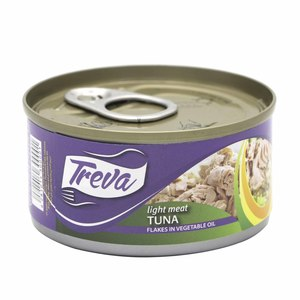 Treva Light Meat Tuna Flakes In Vegetable Oil 80g