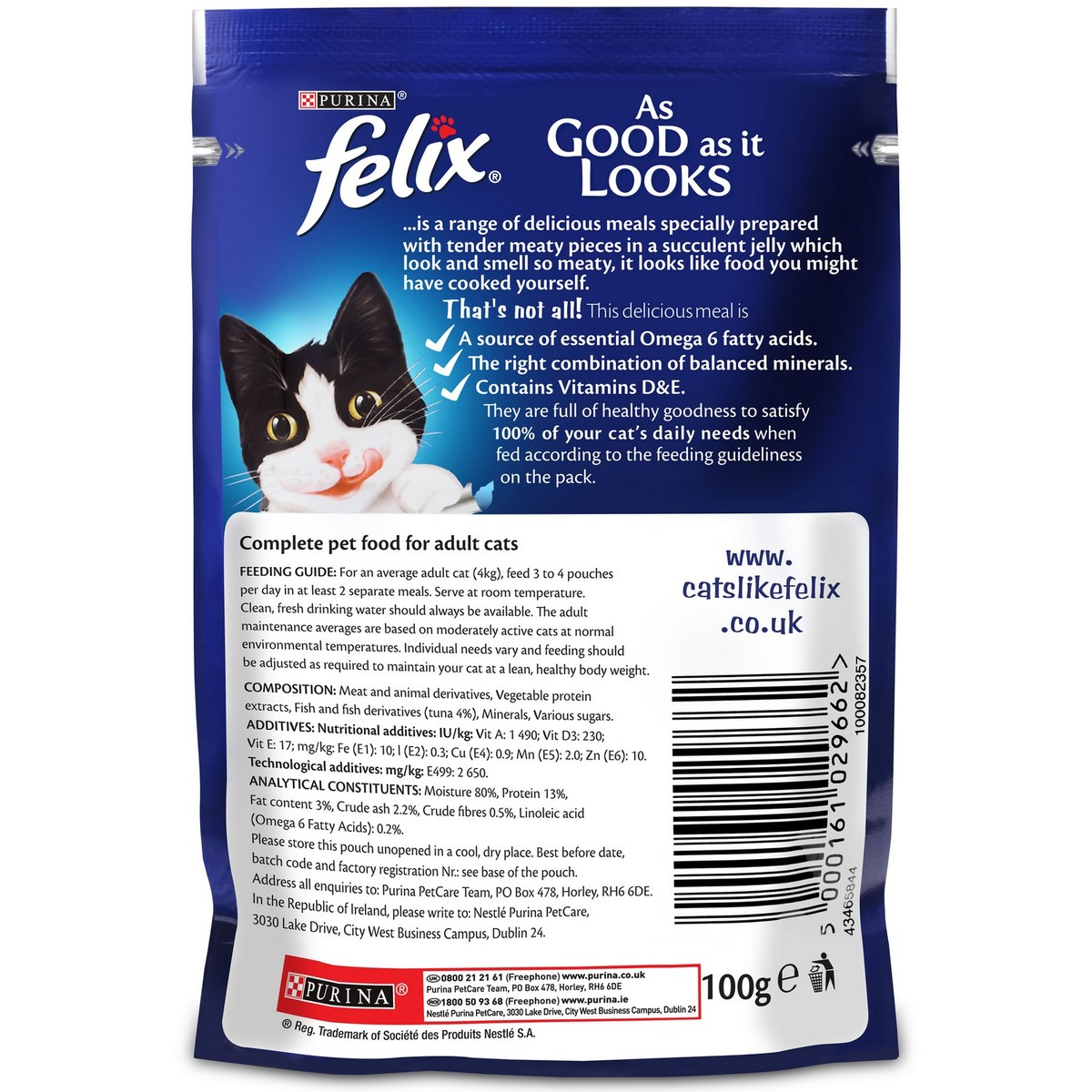 Buy Purina Felix Cat Food With Tuna In Jelly 100 Gm - Cat