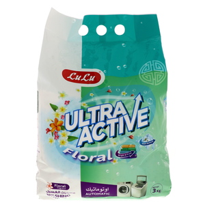 Lulu Ultra Active Washing Powder Floral 3kg