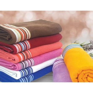 Red Berry Bath Towel Cotton 70x140cm Assorted per pc