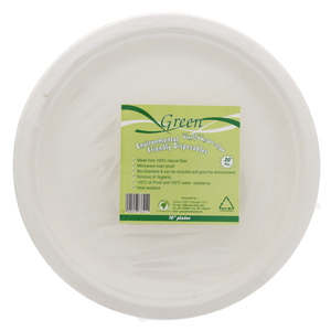 Green Environmental Friendly Disposables 10inch 20pcs