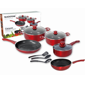 Black Stone Ceramic Cookware Set 11pcs