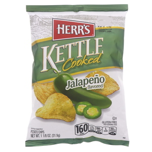 Herr's Kettle Cooked Jalapeno Flavored Potato Chips 31.9g