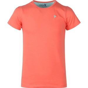 Eten Girls Basic Round-Neck Short Sleeve Neon Pink 9-16 Y