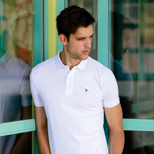 Eten Men's Basic Polo Tees Short Sleeve White