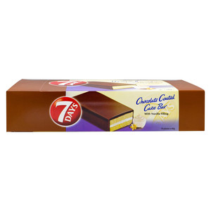 Almarai 7 Days Chocolate Coated Cake Bar with Vanilla Filling 10 x 40g