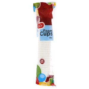 Lulu Foam Cup 8oz 25pcs