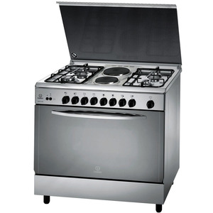 Indesit Cooking Range KNB21SXEX 4Burner + 2 Hot Plate