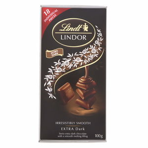 Lindt Lindor Extra Dark Chocolate 100g