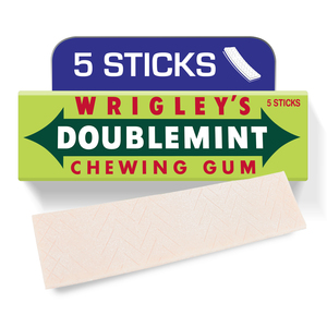 Wrigley's Doublemint Gum Peppermint 5 Sticks