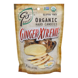 Go Organic Hard Candies Ginger Xtreme 100g
