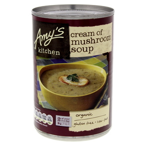Amy's Organic Cream of Mushroom Soup Gluten Free Low Fat 400g