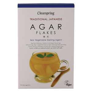 Clearspring Traditional Japanese Agar Flakes Sea Vegetable Gelling Agent 28g