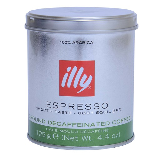 Illy Espresso Ground Decaffeinated Coffee 125g