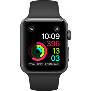 Apple Watch MP032 42mm Space Gray Aluminum Case With Black Sport Band